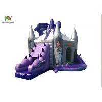 Buy cheap Customized Purple Dragon Inflatable Jumping Castle With Sllide For Kids from wholesalers