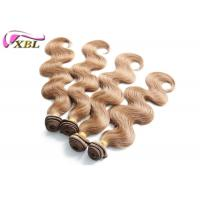 Thick Ends Colored Brazilian Human Hair Bundles Weave Color 30 Body Wave Human Hair Weft Manufactures