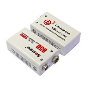 Quality Soshine New 9V Li-po Rechargeable Battery: 650mAh 7.4V for sale