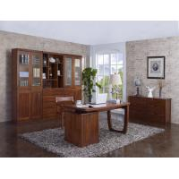 Quality Nanmu solid wood Home office study room furniture set by Tall storage bookcase for sale
