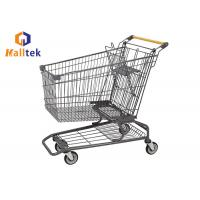 China 60-240L Supermarket Shopping Trolley , Small Supermarket Trolley With Kid Seat on sale