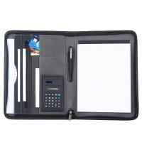 Black PU Leather Business Portfolio For Business Travel / Daily Use Manufactures
