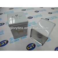 China Square Cookie Tin Box 75*75*110mmH on sale