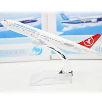 Turkish B777 1 / 400 Metal Fancy flying model airplanes Child Gift Manufactures