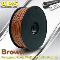 High Strength ABS 3D Printer Filament 1.75mm /  3.0mm 732C Brown 1kg / Spool Filament Manufactures