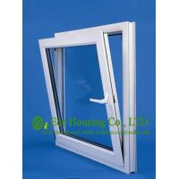 Top hung Upvc Windows For House, White Color Vinyl Awning Windows manufacturer China Manufactures