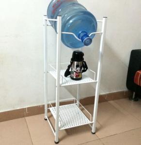 iron welded 1 gallon water bottle racks white powder coated bottle holders in stock Manufactures