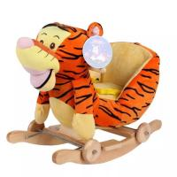 Cute Brown Cute Baby Toys Tiger Plush Baby Rocking Animal Chair Manufactures