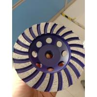 Sintered Turbo Diamond Cup Grinding Wheel Silver Brazed For Granite Using Manufactures