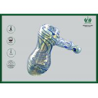 Hammer Bubbler Glass Hand Pipe , Thick Handle Glass Smoking Pipes With Inner Tube Manufactures