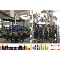 China Rotary Washing Filling Capping Beer Bottle Filling Machine For Plastic / Glass Bottle on sale