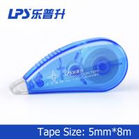 Flexible and smooth Mini Correction Tape Roller Blue Color 5mm*8m Manufactures
