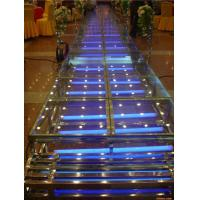 1.22 X 1.22 M Aluminum / Glass / Acrylic Stage Platform 3 Steps Stair Manufactures