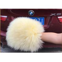 China Sheepskin Car Wash Mitt Genuine Long Merino Wool Car washing glove on sale
