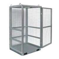 W1060 * D1060 * H1800 Mm  Wire Utility Cart / Grey Wire Mesh Security Cage For Cylinder Manufactures