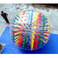 China Shinning Colorful PVC Body Inflatable Zorb Ball Customized With D-rings For Show on sale