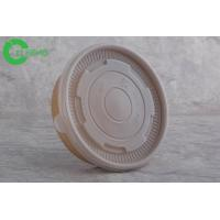 Custom logo print food grade durable kraft paper disposable food container 25oz with PP lid Manufactures