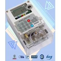 Two Way Communication Single Phase Watt Hour Meter Polycarbonate Build - In GPRS Manufactures