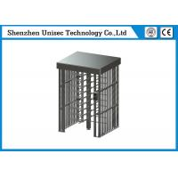 China Full Height Turnstile Security Systems , 304 Stainless Steel Pedestrian Access Gate Single Lane on sale
