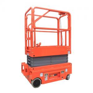 24V 4.5W Hydraulic Man Lift Equipment / Scissor Lift Extension Platform Painting Surface Manufactures
