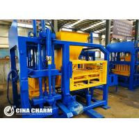 China Automatic Concrete Block Making Machine , Hollow Bricks Machine 21mpa Rated Pressure on sale