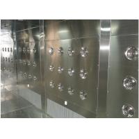 Customized Air Shower Tunnel With Automatic Sliding Door And PLC Control System Manufactures