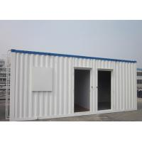 China Easy Transportation Prefab Steel Houses With Fiber Glass Wool Insulation on sale