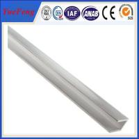 Anodized Silvery Aluminum U Channel Extrusions , aluminium frame profiles Manufactures