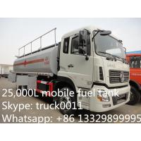 China Dongfeng Kinland double rear bridge 25cbm mobile fuel tank for sale, fuel truck for sale on sale