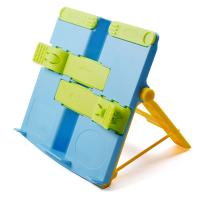 China Portable Blue ABS Plastic Bookstands Reading Stand Book Holder Cookbook Stand Music Song Score Holder Magazine Stand on sale