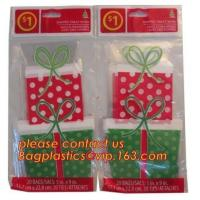 China Clear Cello Bags Adhesive - 1.4 mils Thick Self Sealing OPP Plastic Bags for Bakery Cookies Christmas Halloween Party on sale