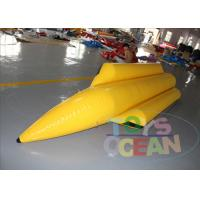 4 Players Yellow Inflatable Banana Boat Inflatable Water Ski Tubes For Water