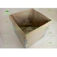 Military Protection Welded Gabion Box Hesco Barrier With 600g Heavy Geotextile Manufactures