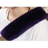 Durable Natural Fiber Sheepskin Seat Belt Cover Sheepskin OEM Comfortable Safety Manufactures