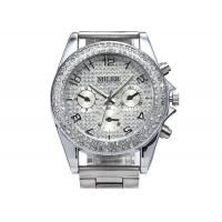 MILER Crystal Womens Wrist Watches Bracelet , Silver Dial Case Manufactures
