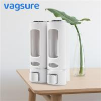 China Double Heads Wall Mounted Liquid Soap Dispenser Waterproof ABS Plastic Material on sale