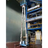 Dual Mast Hydraulic Lift Ladder Manual Push Around For Shopping Centers Manufactures
