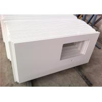 Squared Hole Quartz Bathroom Vanity Tops Pure White Top Polished With Eased Edge Manufactures