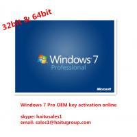China Windows 7 Product Key Codes Professional Download With FPP retail Keys on sale