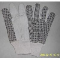 High Quality Cotton Canvas Gloves with PVC Dots Manufactures