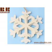 Unfinished Wood Layered Snowflake Ornament Christmas tree ornaments Holidays Gift Ornament Manufactures