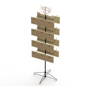 24 Bags Spinner Rotatable Metal Floor Display Stands Supermarket Paper Bags Display Rack Manufactures