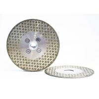 Steel Substrate Electroplated Diamond Discs High Working Efficiency Manufactures