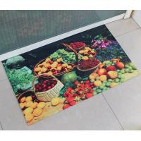 China Natural Washable Rubber Floor Carpet Rectangular For Dinning Room Flooring on sale