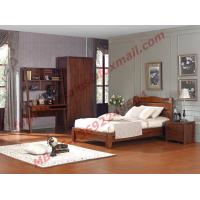 Classic Design Solid Wood Material for Single Bedroom Furniture Set Manufactures