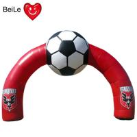 Buy cheap Red Inflatable Football Entrance Arch for special time advertising from wholesalers