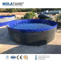 China Molatank High Quality Best Price 1000L Steel Mesh Water Tank Galvanized Water Tank Fish Farm Tank on sale
