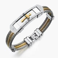 Stainless Steel Three Layers Cable Bracelets Manufactures
