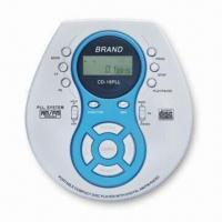 China Personal MP3/CD Player with PLL AM and FM Radio Functions on sale