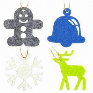 Lasercut 3mm FELT Christmas Pendants, Comes in 5 x 5cm Size Manufactures